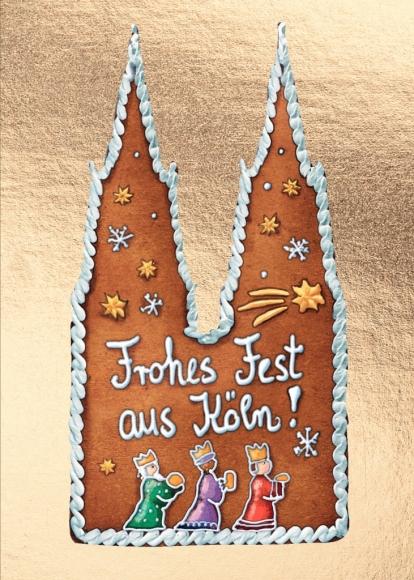 Doppelkarte: Frohes Fest aus Köln!