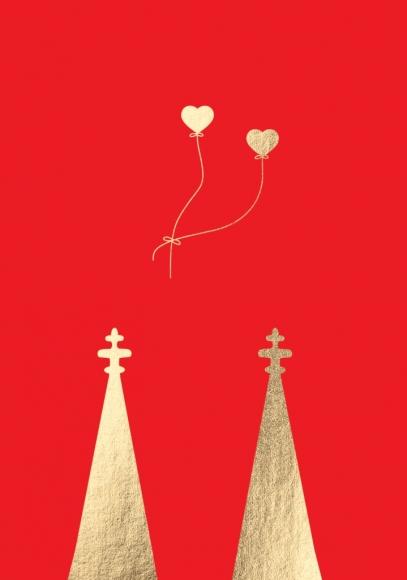 Doppelkarte: Domspitzen und Herzen