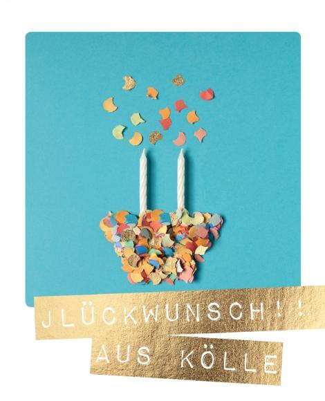 Postkarte: Jlückwunsch! Aus Kölle