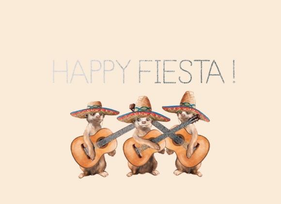 Doppelkarte: Happy Fiesta!