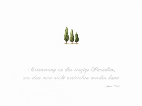 Doppelkarte: Erinnerung ist das einzige Paradies (Jean Paul)