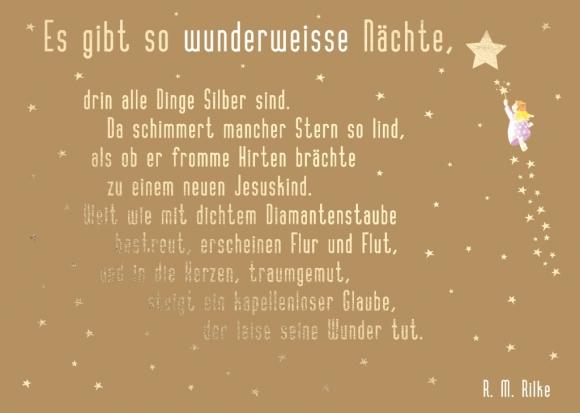 Doppelkarte: Es gibt so wunderweiße Nächte (R. M. Rilke)