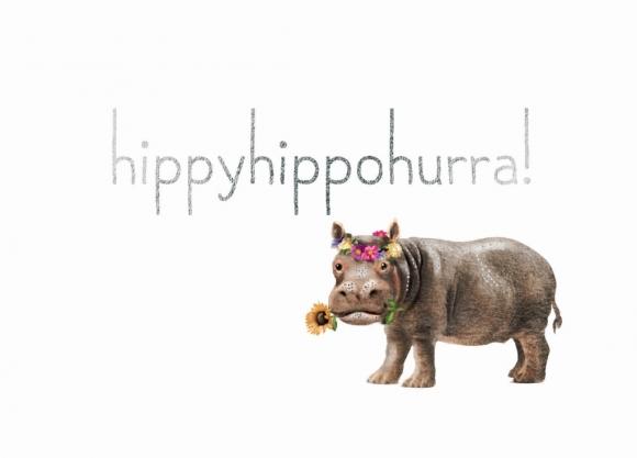 Doppelkarte: hippyhippohurra!