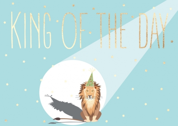 Postkarte: King of the Day