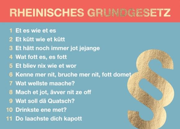 Postkarte: Rheinisches Grundgesetz, mit Paragraph