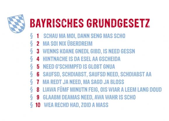 Postkarte: Bayrisches Grundgesetz