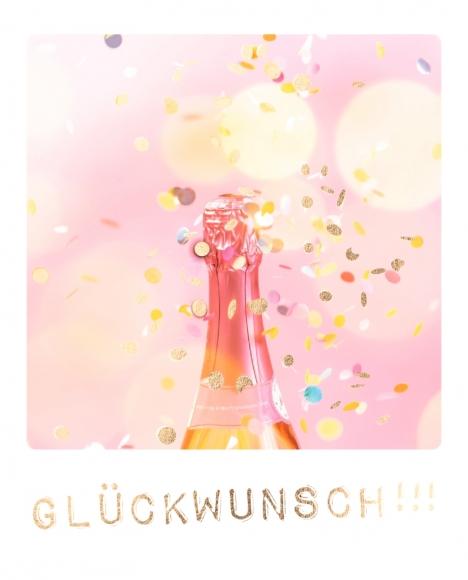 Doppelkarte: Glückwunsch!!!