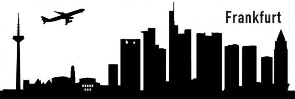 Autoaufkleber Frankfurt Skyline schwarz