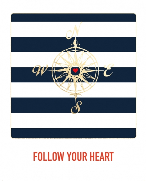 Postkarte: Follow your heart