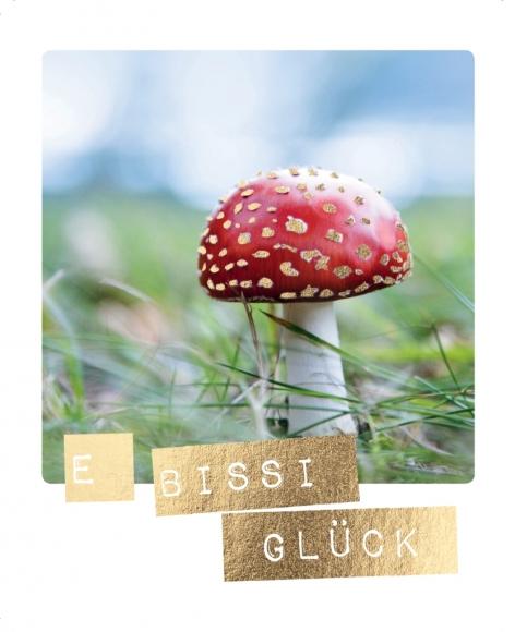 Postkarte: E bissi Glück