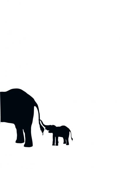 Postkarte: Elefant