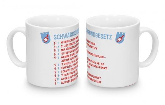 Kaffeebecher Schwäbisches Grundgesetz