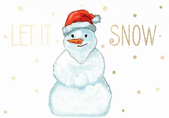 Mini-Doppelkarte: Let it snow