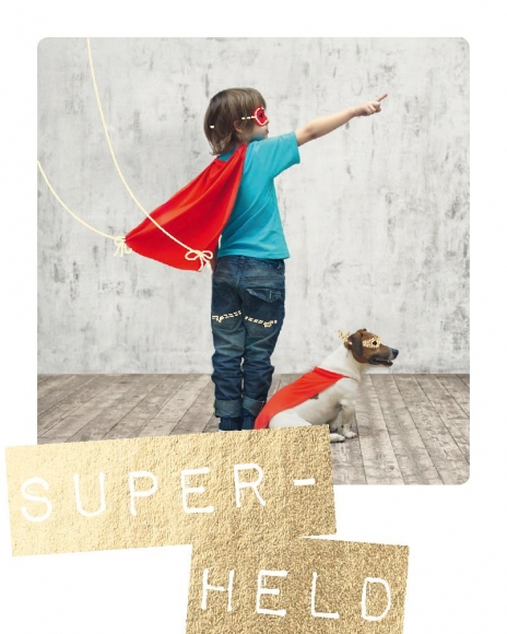 Mini-Postkarte: Super-Held