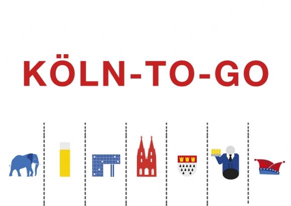 Postkarte: Köln-to-go