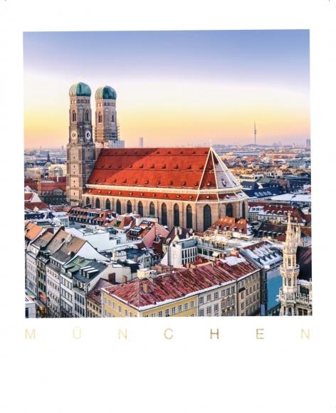 Postkarte: Frauenkirche München