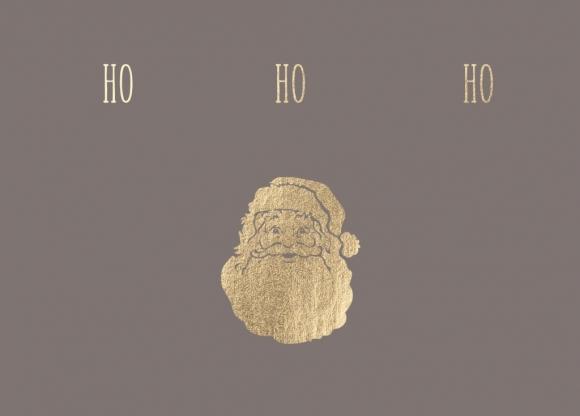 Postkarte: Ho Ho Ho - Weihnachtsmann