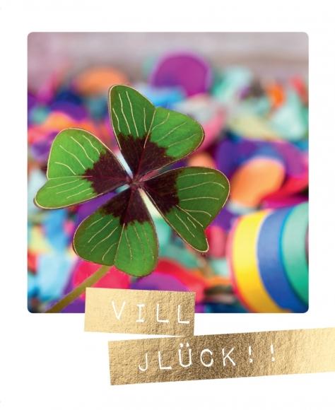 Postkarte: Vill Jlück!!