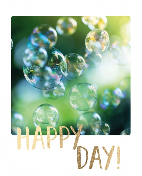 Doppelkarte: Happy Day Seifenblasen