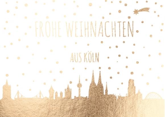 Doppelkarte: Frohe Weihnachten aus Köln