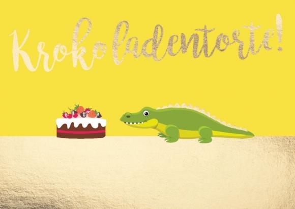 Postkarte: Krokoladentorte!