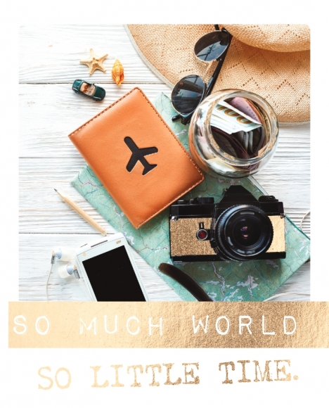 Postkarte: So much world, so little time.