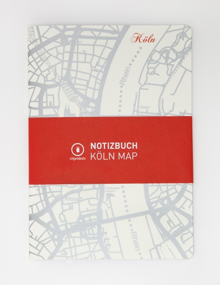 Notizheft A5 Köln Map
