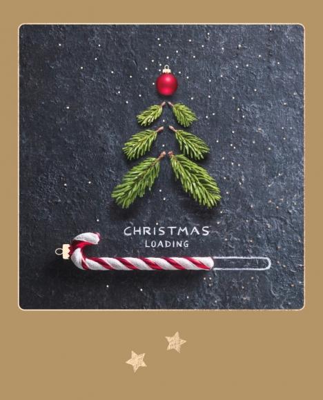 Postkarte: Zuckerstange - Christmas loading