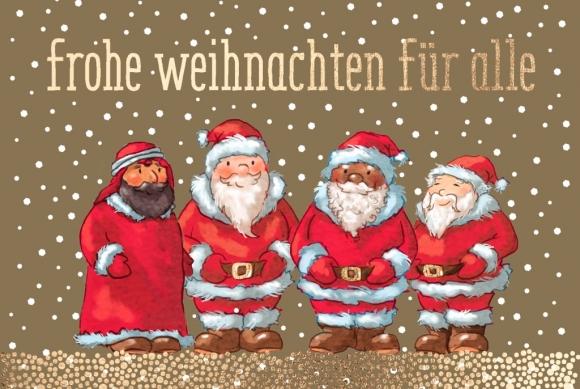 Doppelkarte: Frohe Weihnachten für alle