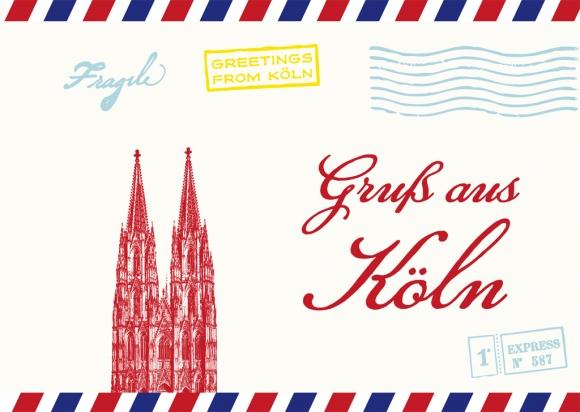 Postkarte: Gruß aus Köln
