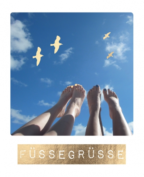 Postkarte: Füßegrüße