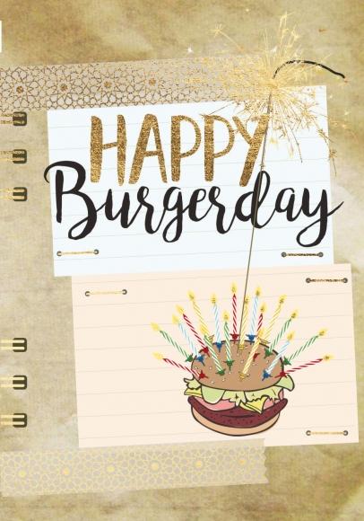 Doppelkarte: Happy Burgerday