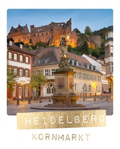 Postkarte: Heidelberg Kornmarkt