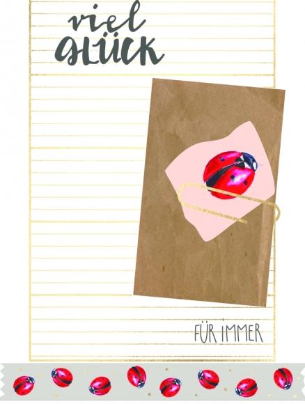 Postkarte: Viel Glück - für immer