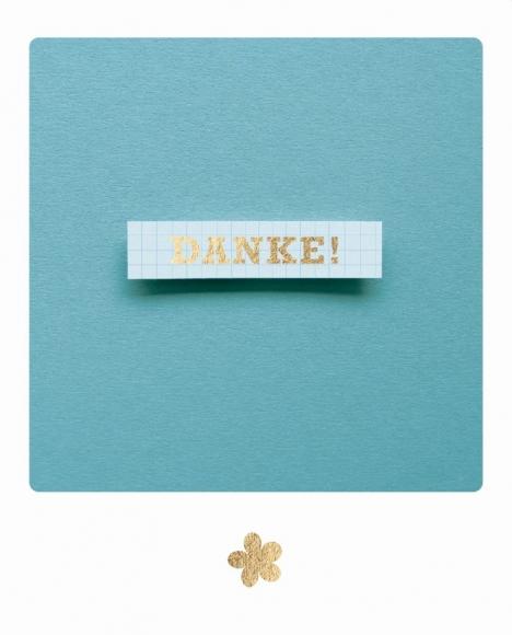 Postkarte: Danke - Schild