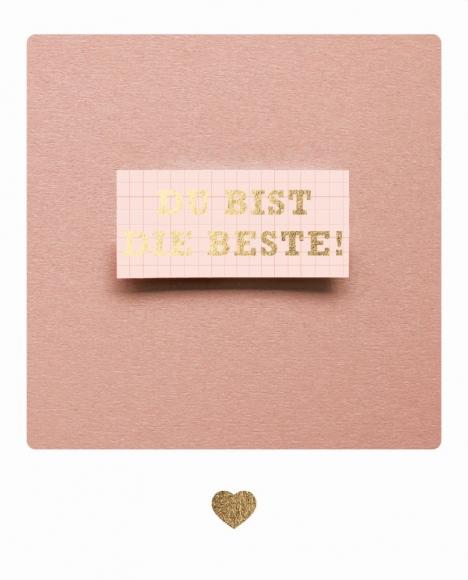Postkarte: Du bist die Beste - Schild