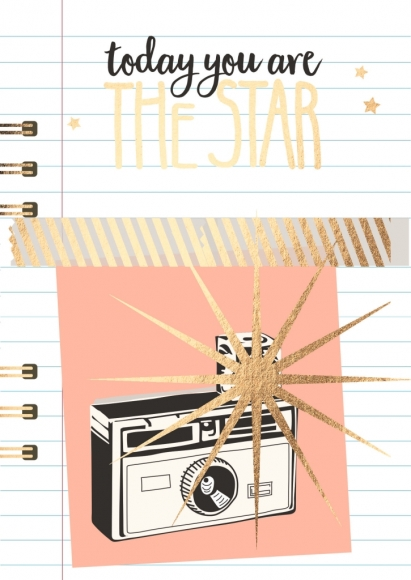 Postkarte: Today you are the star