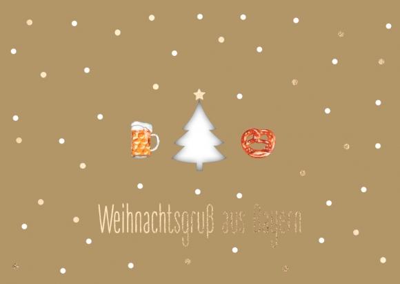 Doppelkarte: Weihnachtsgruß aus Bayern