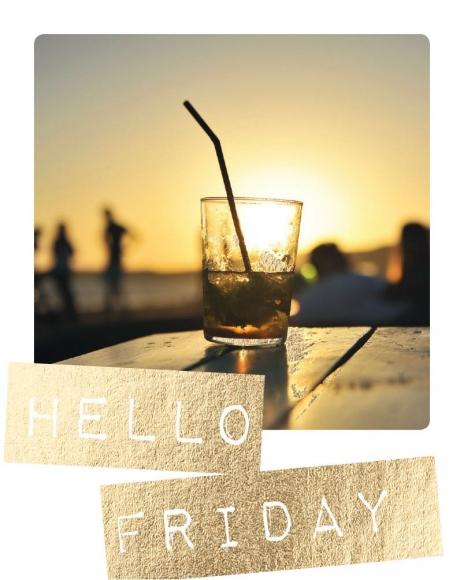 Mini-Postkarte: Hello Friday