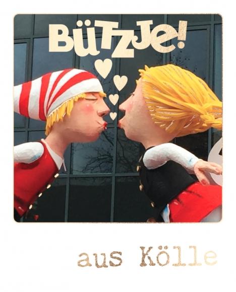 Postkarte: Bützje! aus Kölle