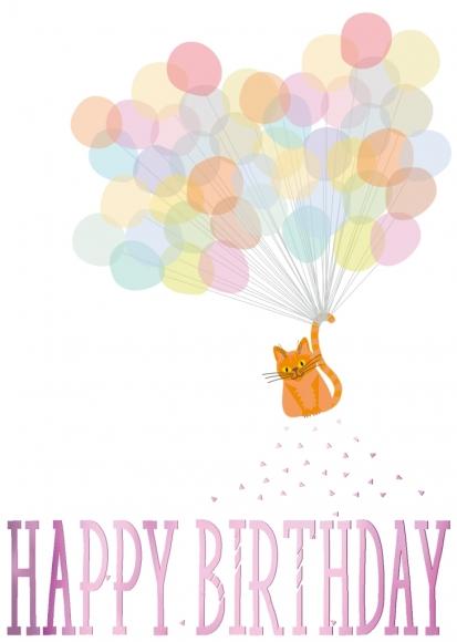 Postkarte: Happy Birthday