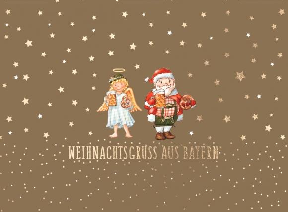 Doppelkarte: Weihnachtsgruß aus Bayern- Christkind