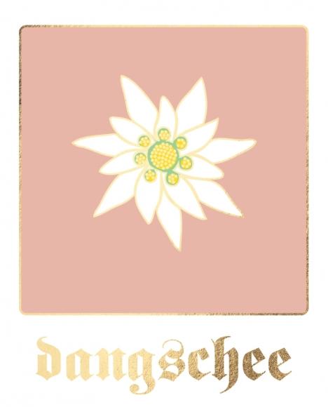 Postkarte: dangschee - Edelweiß