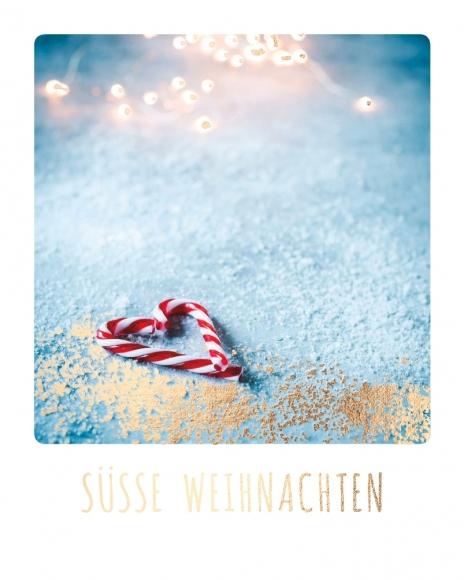 Mini-Postkarte: Süße Weihnachten