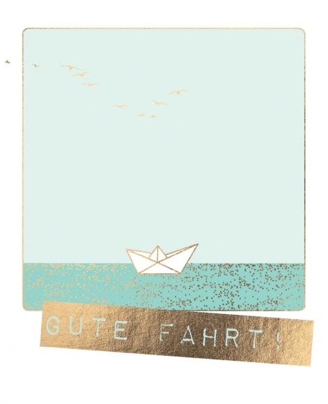 Postkarte: Gute Fahrt