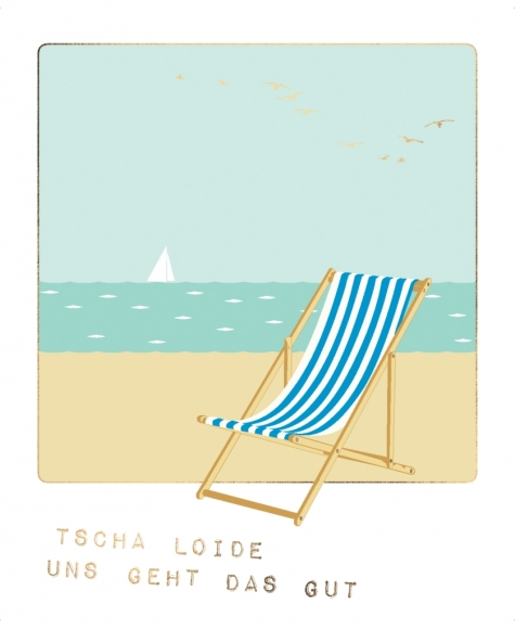 Postkarte: Tscha Loide uns geht das gut