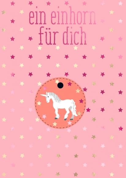 Postkarte: Ein Einhorn für Dich