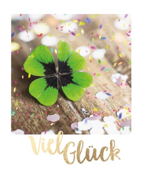 Postkarte: Viel Glück