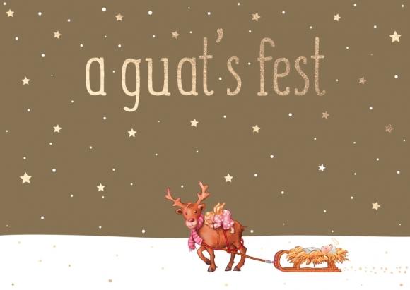 Postkarte: a guat's fest