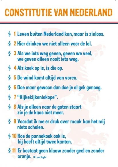 Postkarte: Constitutie van Nederland